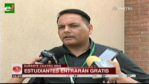 La dirección de Educación entregará las entradas para los estudiantes que ingresen a la Expocruz
