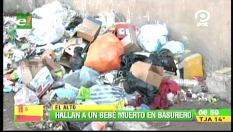 El Alto: Hallan el cadáver de un recién nacido en un basurero