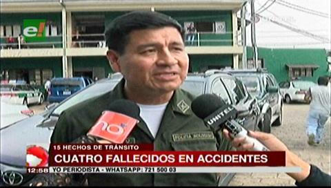 Santa Cruz: 15 accidentes de tránsito con cuatro fallecidos en el feriado