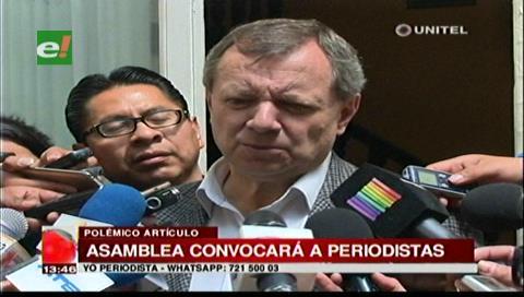 Presidente del Senado anuncia reunión con ANP para sacar a periodistas del artículo 200