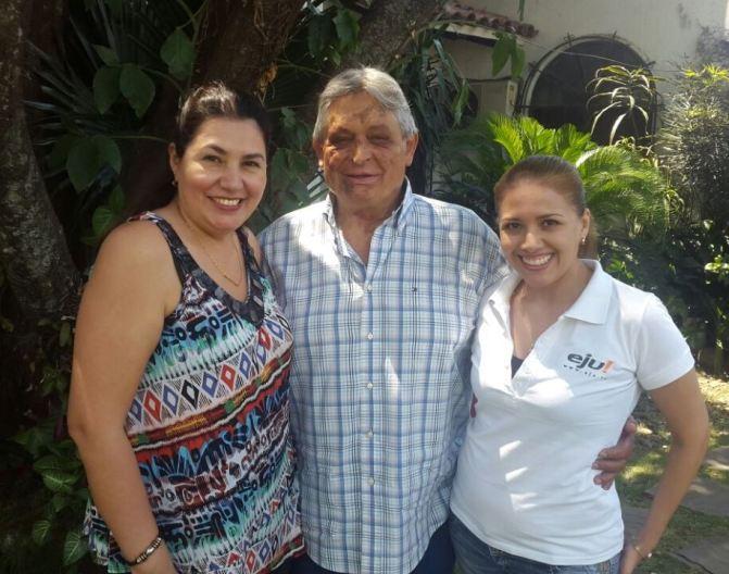 Nona Vargas y Patricia Cadena le dieron la bienvenida a Jaime Paz Zamora