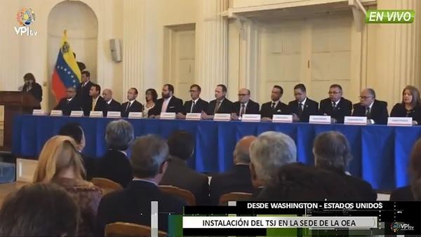 FOTOS: TSJ designado por el parlamento se instala en la OEA #13Oct