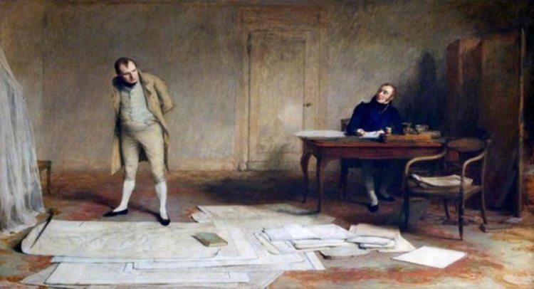 Napoleón dictando sus memorias en Santa Helena