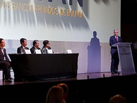 El Vicepresidente durante su participación, la noche de este martes, en el aniversario de la Banca privada.