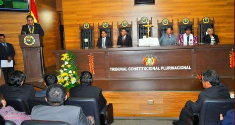 Un acto en Tribunal Constitucional Plurinacional (TCP). Foto: Archivo