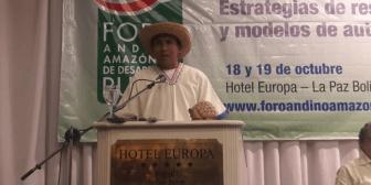 Dirigente indígena Adhemar Mole: Defendemos el TIPNIS de un enemigo oculto en este gobierno, el narcotráfico