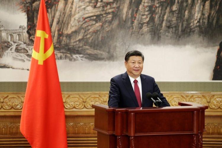 Xi Jingping durante la presentación del nuevo Politburó (REUTERS/Jason Lee)