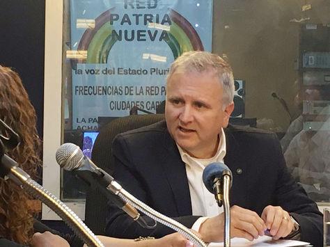 David Sánchez, gerente de la Empresa Administradora de Servicios Portuarios de Bolivia (ASPB).