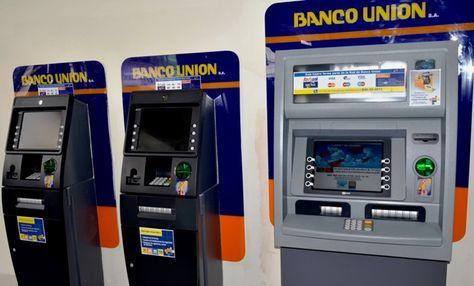 Cajeros ATM del Banco Unión. Foto: www.radiocamba.com.bo