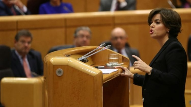 Soraya Sáenz de Santamaría, vicepresidenta española. (Reuters)