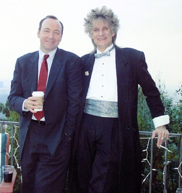 Kevin Spacey con su hermano Randall Fowler en2003
