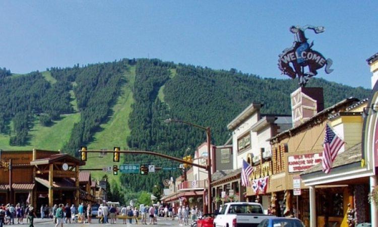 Centro de la ciudad de Jackson, en Wyoming (Jackson Hole)