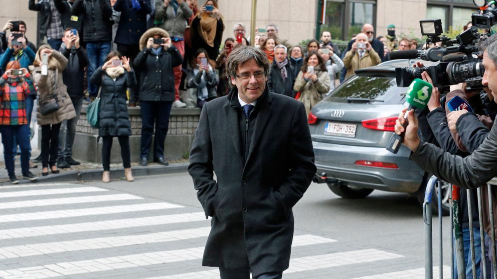 Puigdemont vuelve a Barcelona desde Bruselas
