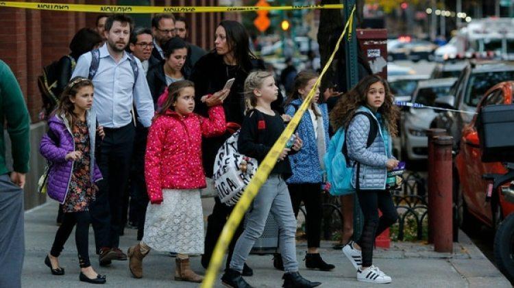 El ataque en Manhattan ocurrió en una zona con muchos colegios y en el horario de salida de los niños (AFP)