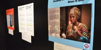 Inauguración de muestra de 30 paneles contra el matrimonio infantil en el CCP