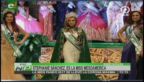 Pandina gana concurso de belleza  internacional