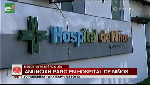 Trabajadores del Hospital de Niños anuncian paro indefinido