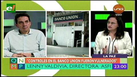 Guillén y Valdivia aclaran cual son sus responsabilidades en casos como el del Banco Unión