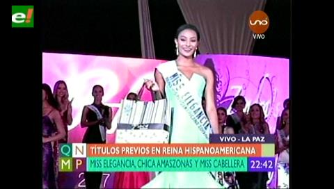 Títulos previos en Reina Hispanoamericana: Miss Elegancia