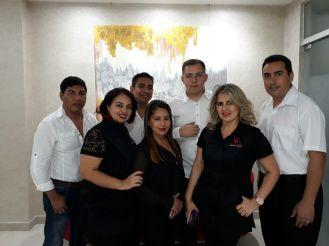 Guillermo Bogado, Mauricio Santiestevez, Evaldo Ribera, Robert Viveros, Patricia Flores, Arminda Perez y Rosmery Bejarano