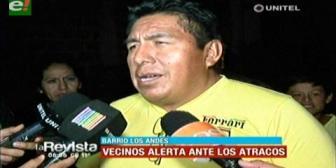 Vecinos del barrio Los Andes en emergencia por ola de atracos