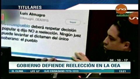 Video titulares de noticias de TV – Bolivia, mediodía del miércoles 4 de octubre de 2017