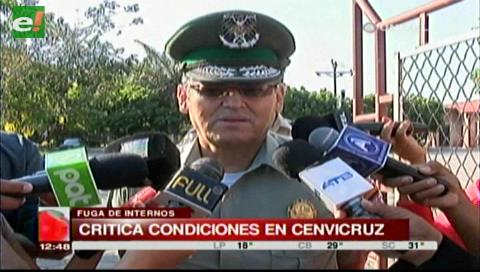 Comandante policial critica la falta de condiciones en Cenvicruz