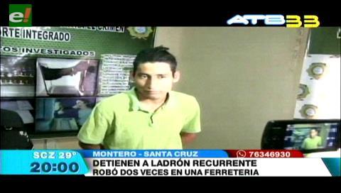 Policía detuvo a un delincuente en Montero