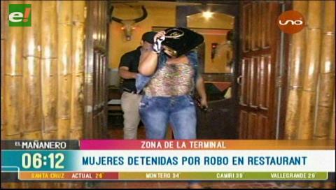 Detienen a dos mujeres por robo en un restaurante