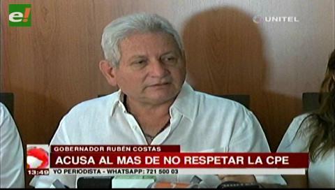 Rubén Costas no participará de marcha por la Democracia para no politizarla