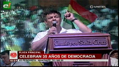 Dirigente cívico pide a cruceños defender la democracia y rechazar la reelección indefinida