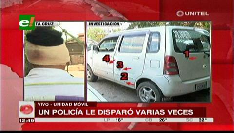 Sujeto víctima de disparos por un policía exige una investigación