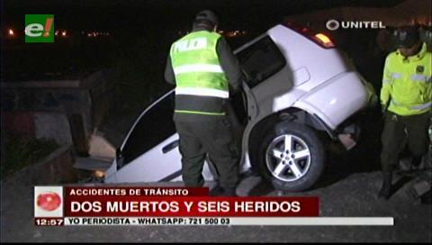 Fin de semana: Dos personas mueren y seis resultan heridas en varios accidentes