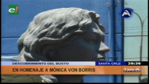 Descubren busto en homenaje a la fiscal Monica Von Borries