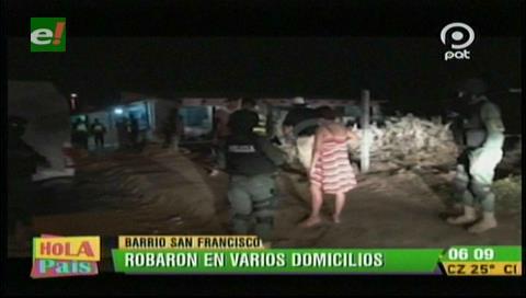 Delincuentes roban dentro de varias viviendas en el barrio San Francisco