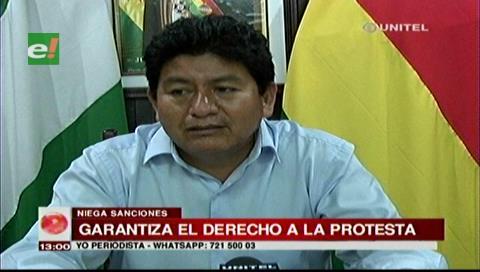 Montaño afirma que se sancionará a organizaciones falsas que se atribuyan representación del pueblo