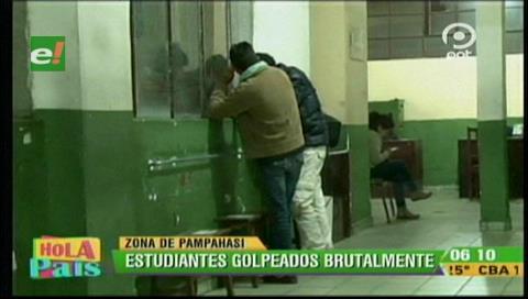 La Paz: Dos estudiantes fueron golpeados por tres personas en estado de ebriedad