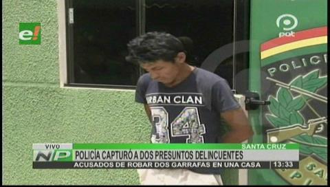 Ladrones de garrafas fueron aprehendidos por la Policía