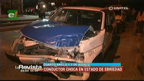 Cuatro personas resultan heridas tras el choque de dos vehículos
