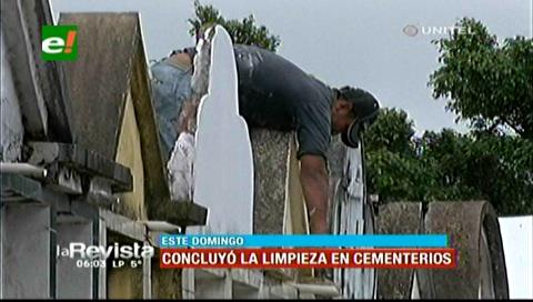 Santa Cruz: Cementerios concurridos por la limpieza