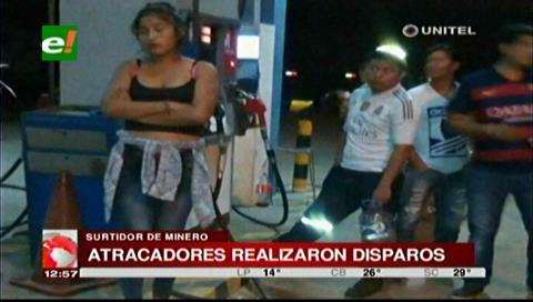 Minero: Delincuentes atracan un surtidor y se llevan más de Bs. tres mil