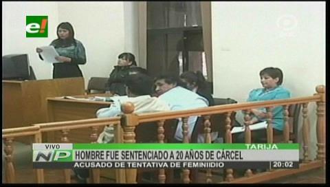 Tarija: Disparó a su ex mujer y lo condenaron con 20 años