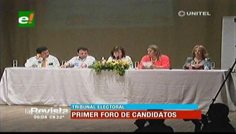 Elecciones judiciales: Candidatos de Santa Cruz presentaron sus propuestas en un foro