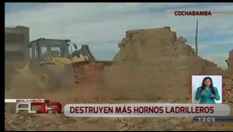 Autoridades destruyen más hornos ladrilleros