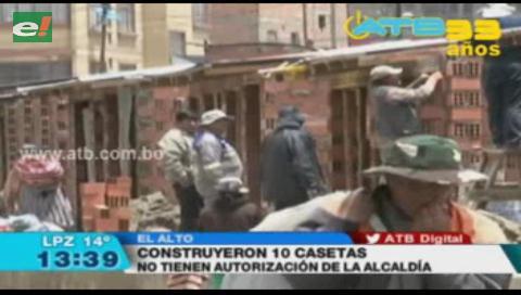 Construyeron 10 casetas en la avenida Panorámica pese a prohibición municipal