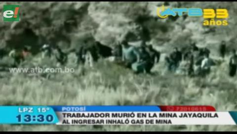 Trabajador muere por inhalar gas de mina en Potosí