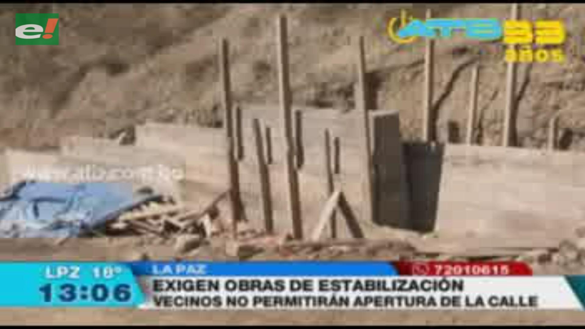 Vecinos de San Juan Lazareto piden obras de estabilización tras deslizamiento de talud