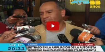 Se registran retrasos en la ampliación de la autopista La Paz-El Alto