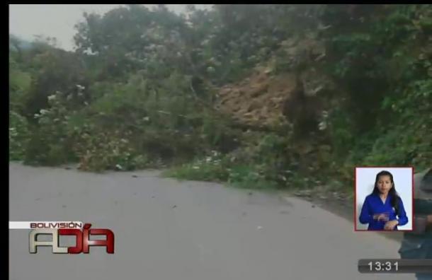 Se registró un deslizamiento de tierra en zona de Locotal
