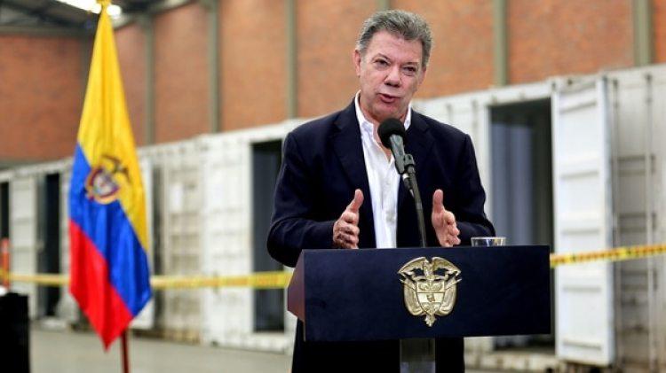 El presidente de Colombia Juan Manuel Santos (EFE)